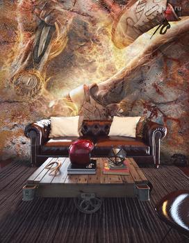 Фотообои на стену Красная роза макро