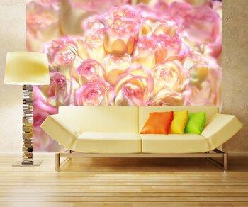 Фотообои на стену Букет на скамейке