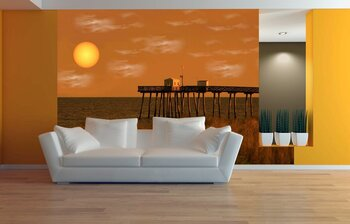 Фотообои на стену Романтический закат над океаном