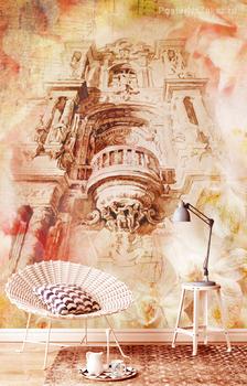 Фотообои Архитектурный элемент в цветах