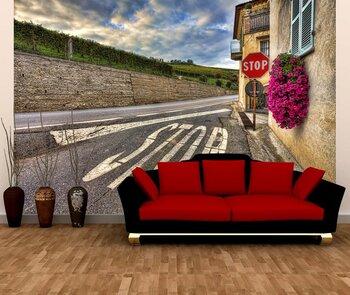 Фотообои на стену  Иерусалимская церковь  и мощеная улица