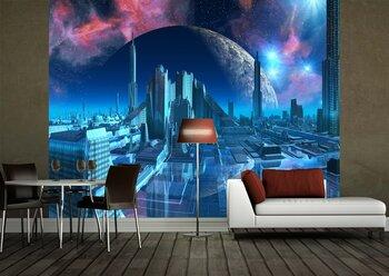Фотообои на стену галактики и планеты в космосе