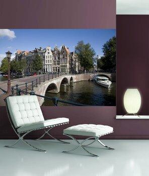 Фотообои Катер у моста. Амстердам